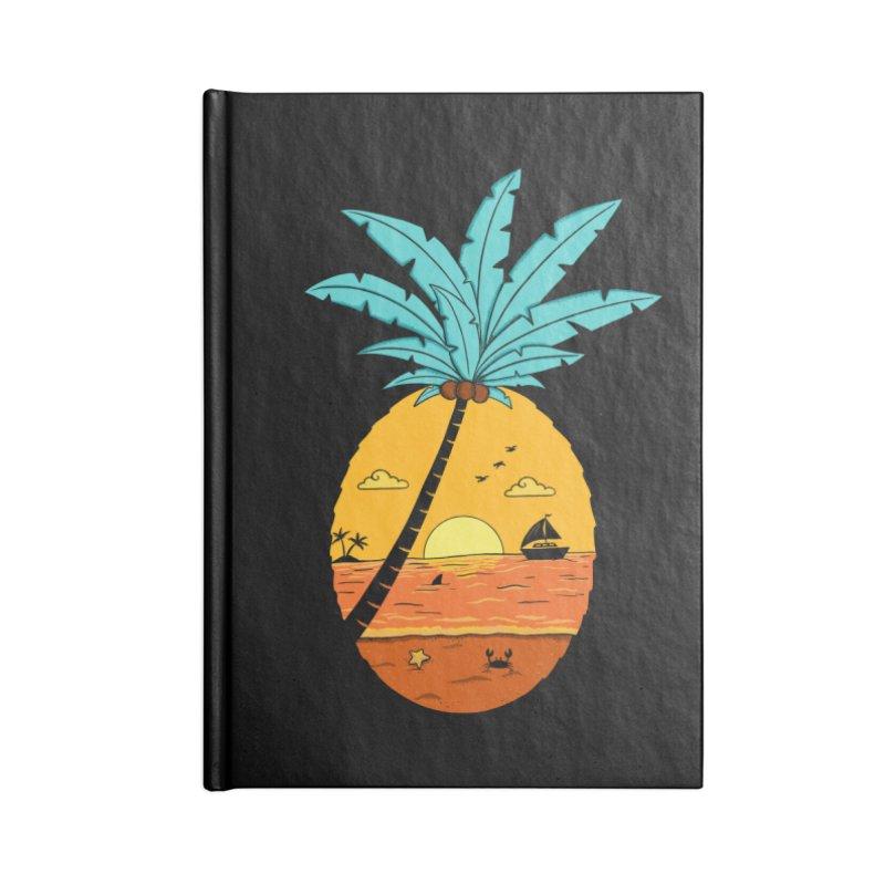 Pineapple summer sunset Accessories Lined Journal Notebook by coffeeman's Artist Shop