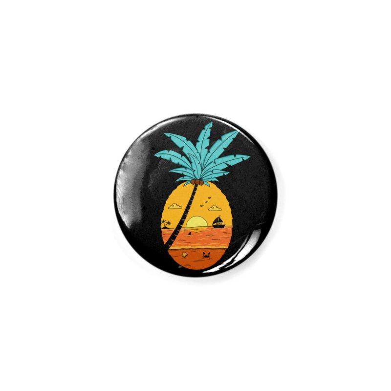 Pineapple summer sunset Accessories Button by coffeeman's Artist Shop