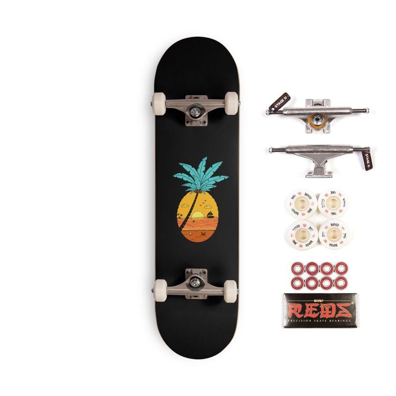 Pineapple summer sunset Accessories Complete - Pro Skateboard by coffeeman's Artist Shop