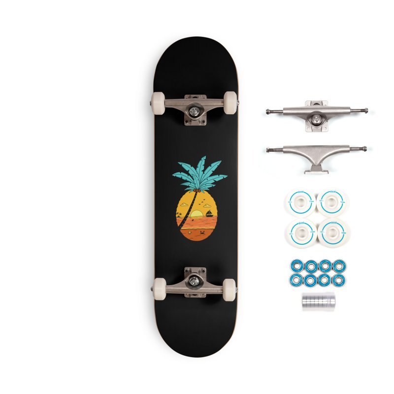 Pineapple summer sunset Accessories Complete - Basic Skateboard by coffeeman's Artist Shop