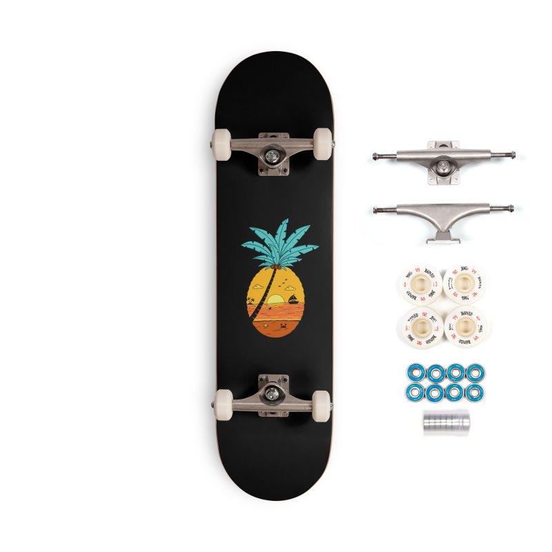 Pineapple summer sunset Accessories Complete - Premium Skateboard by coffeeman's Artist Shop