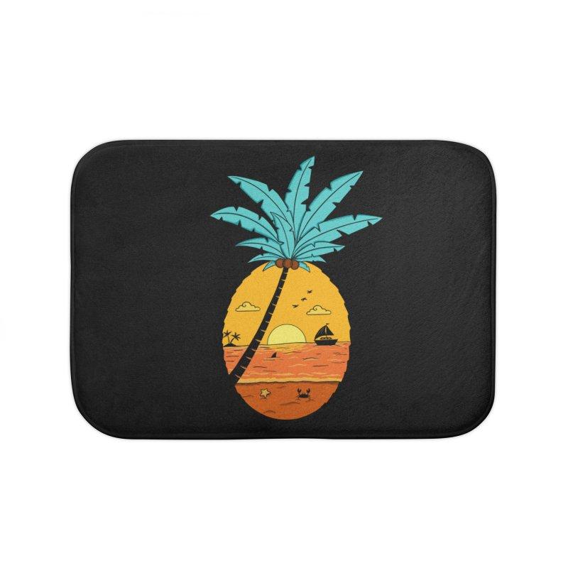 Pineapple summer sunset Home Bath Mat by coffeeman's Artist Shop
