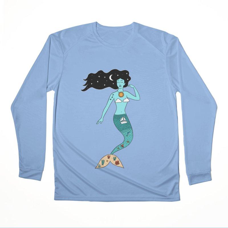 Mermaid Nature Men's Longsleeve T-Shirt by coffeeman's Artist Shop