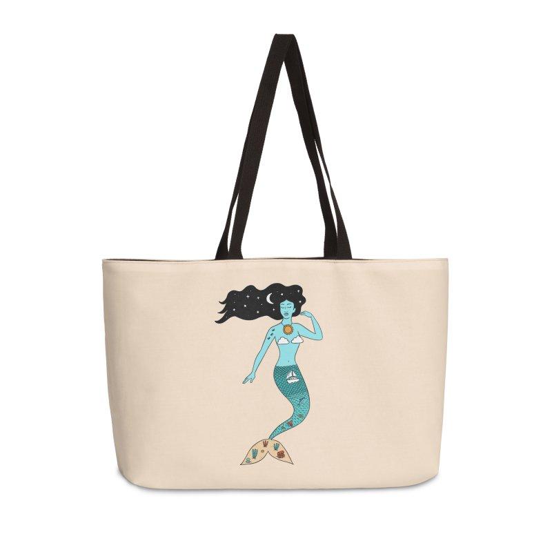 Mermaid Nature Accessories Weekender Bag Bag by coffeeman's Artist Shop