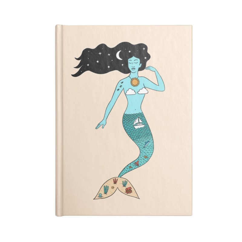 Mermaid Nature Accessories Lined Journal Notebook by coffeeman's Artist Shop