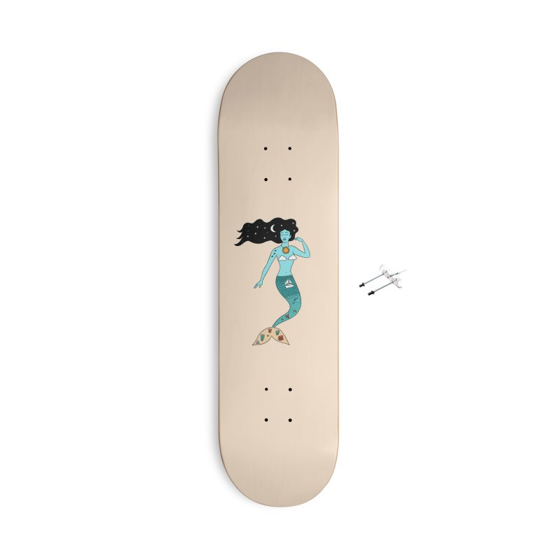 Mermaid Nature Accessories With Hanging Hardware Skateboard by coffeeman's Artist Shop
