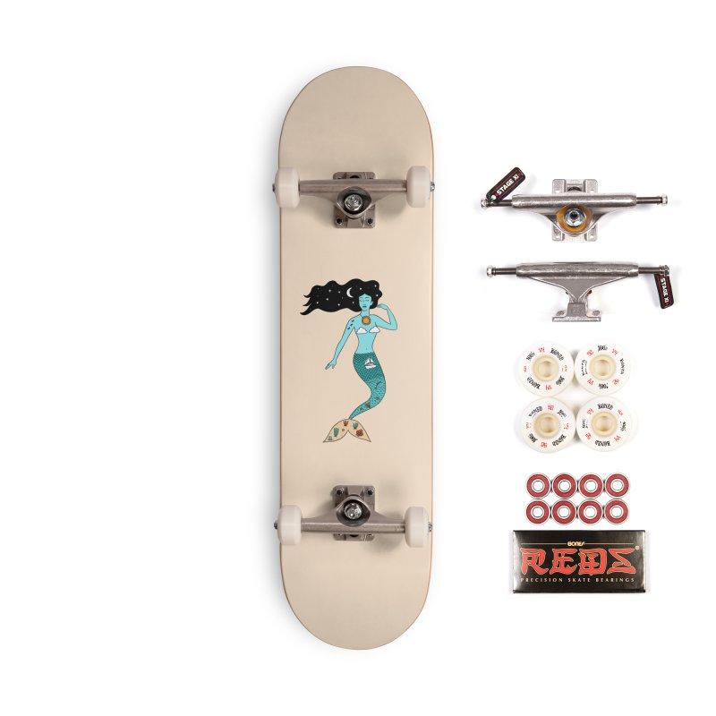 Mermaid Nature Accessories Complete - Pro Skateboard by coffeeman's Artist Shop