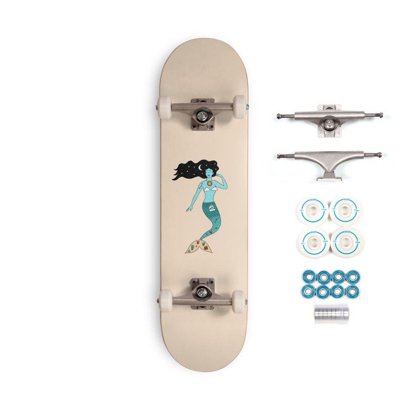 Mermaid Nature Accessories Complete - Basic Skateboard by coffeeman's Artist Shop