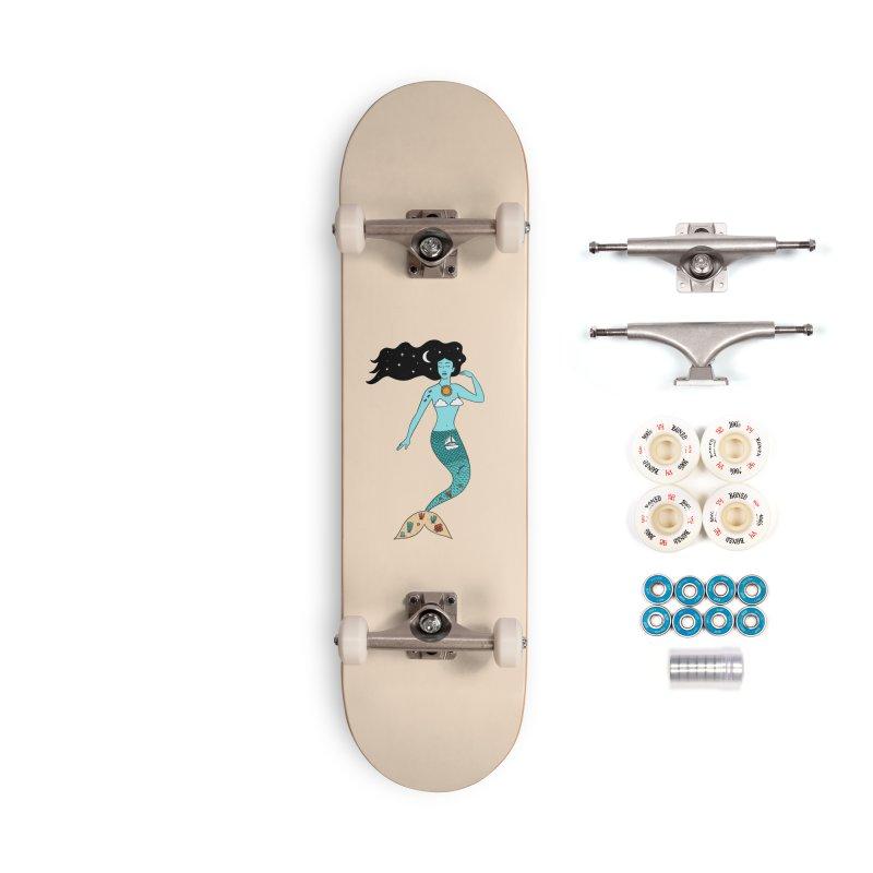 Mermaid Nature Accessories Complete - Premium Skateboard by coffeeman's Artist Shop