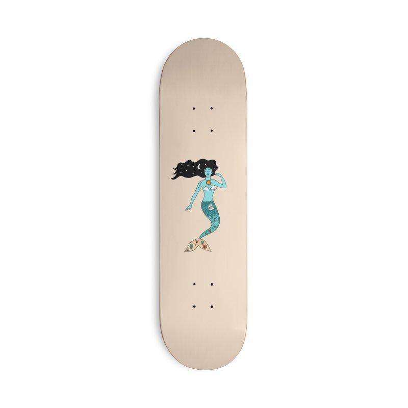 Mermaid Nature Accessories Deck Only Skateboard by coffeeman's Artist Shop
