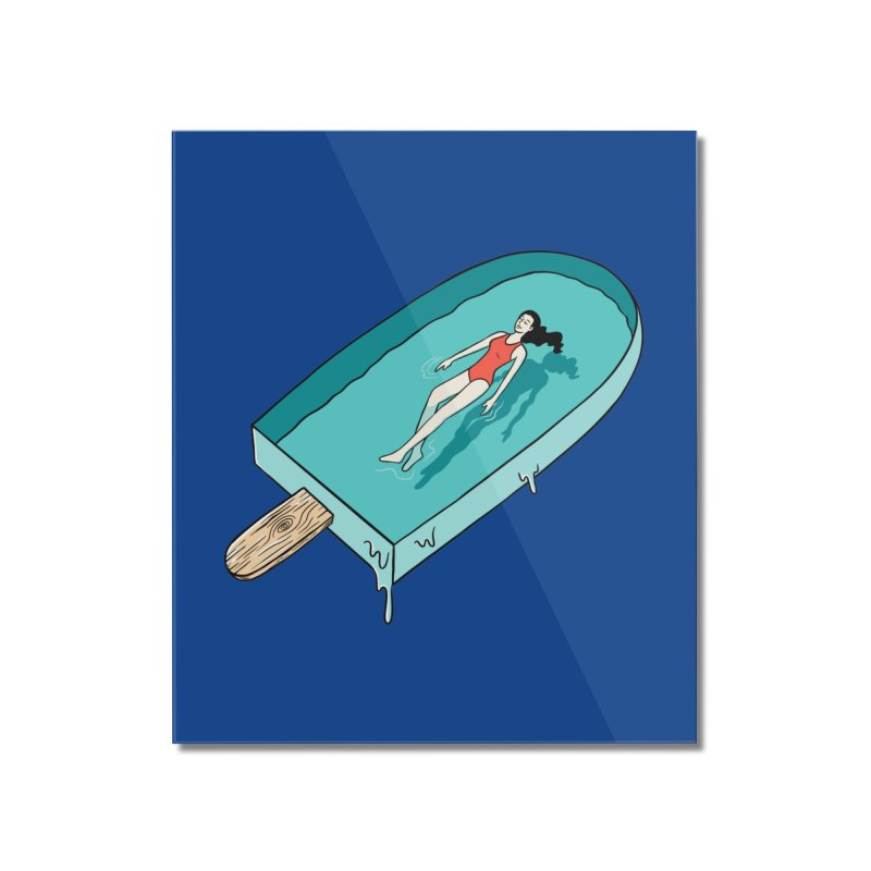 Afloat relax Home Mounted Acrylic Print by coffeeman's Artist Shop