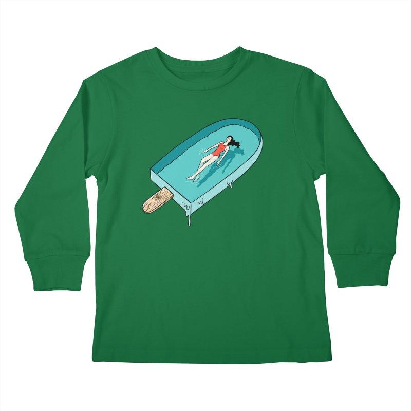 Afloat relax Kids Longsleeve T-Shirt by coffeeman's Artist Shop