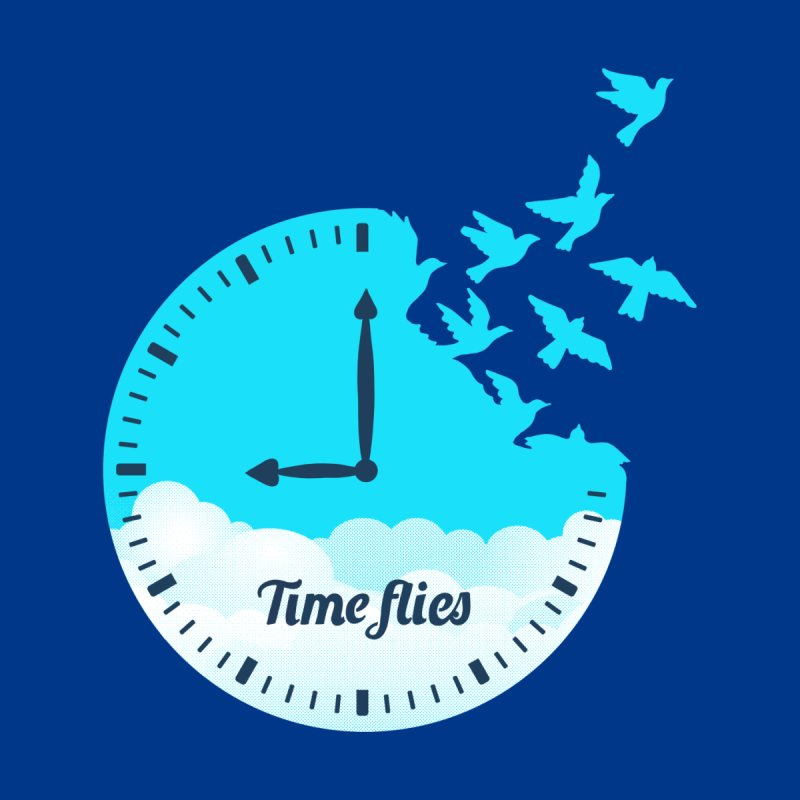 Birds Time Flies Home Mounted Aluminum Print by coffeeman's Artist Shop