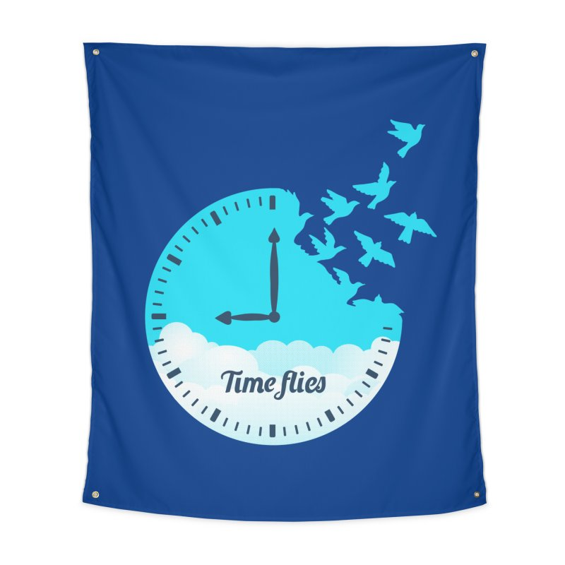 Birds Time Flies Home Tapestry by coffeeman's Artist Shop