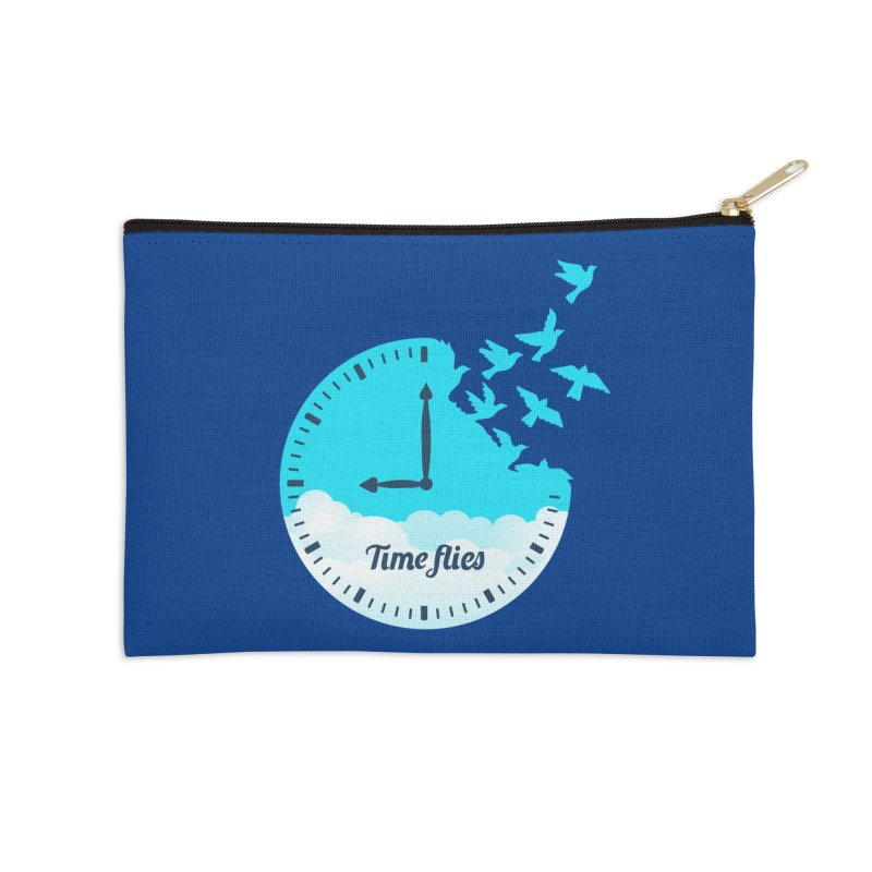 Birds Time Flies Accessories Zip Pouch by coffeeman's Artist Shop