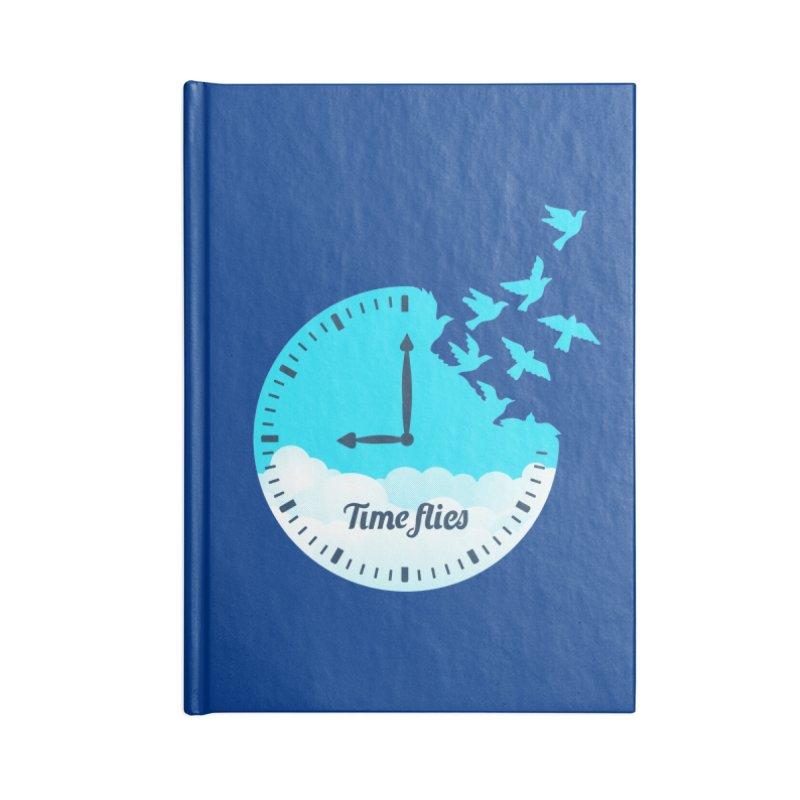 Birds Time Flies Accessories Lined Journal Notebook by coffeeman's Artist Shop