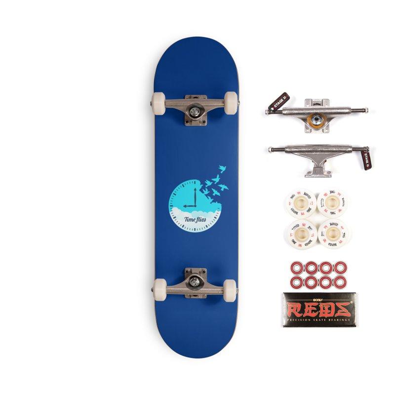 Birds Time Flies Accessories Complete - Pro Skateboard by coffeeman's Artist Shop
