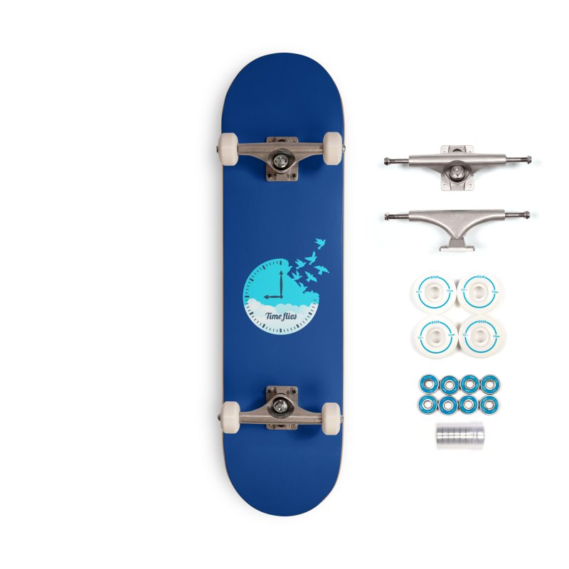 Birds Time Flies Accessories Complete - Basic Skateboard by coffeeman's Artist Shop