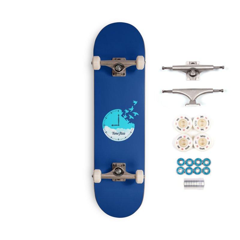 Birds Time Flies Accessories Complete - Premium Skateboard by coffeeman's Artist Shop