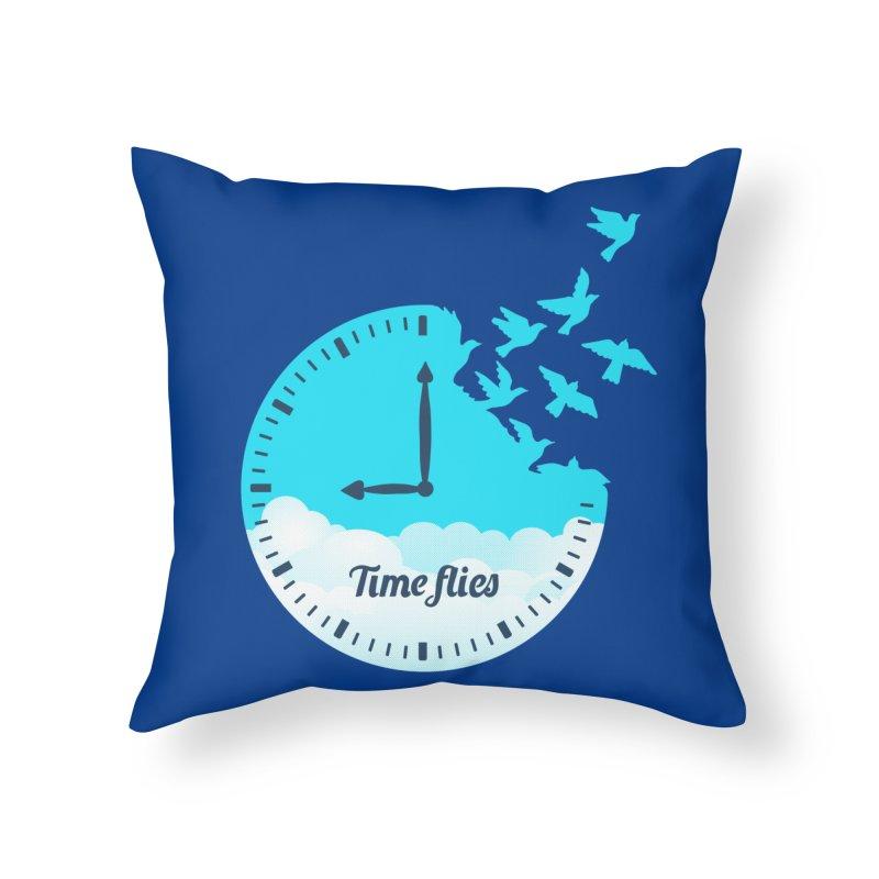 Birds Time Flies Home Throw Pillow by coffeeman's Artist Shop