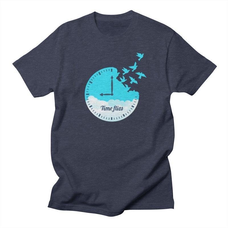 Birds Time Flies Men's T-Shirt by coffeeman's Artist Shop