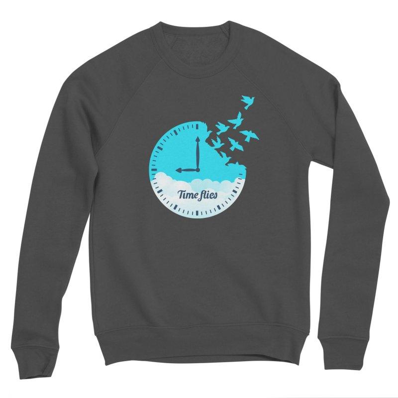 Birds Time Flies Women's Sponge Fleece Sweatshirt by coffeeman's Artist Shop
