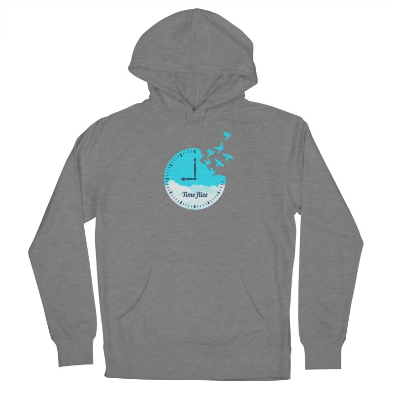 Birds Time Flies Men's French Terry Pullover Hoody by coffeeman's Artist Shop