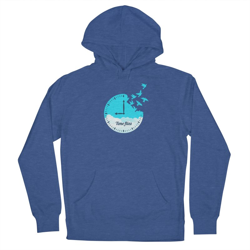 Birds Time Flies Women's French Terry Pullover Hoody by coffeeman's Artist Shop