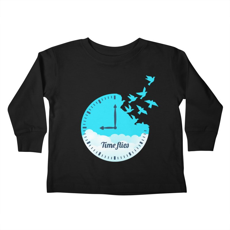 Birds Time Flies Kids Toddler Longsleeve T-Shirt by coffeeman's Artist Shop