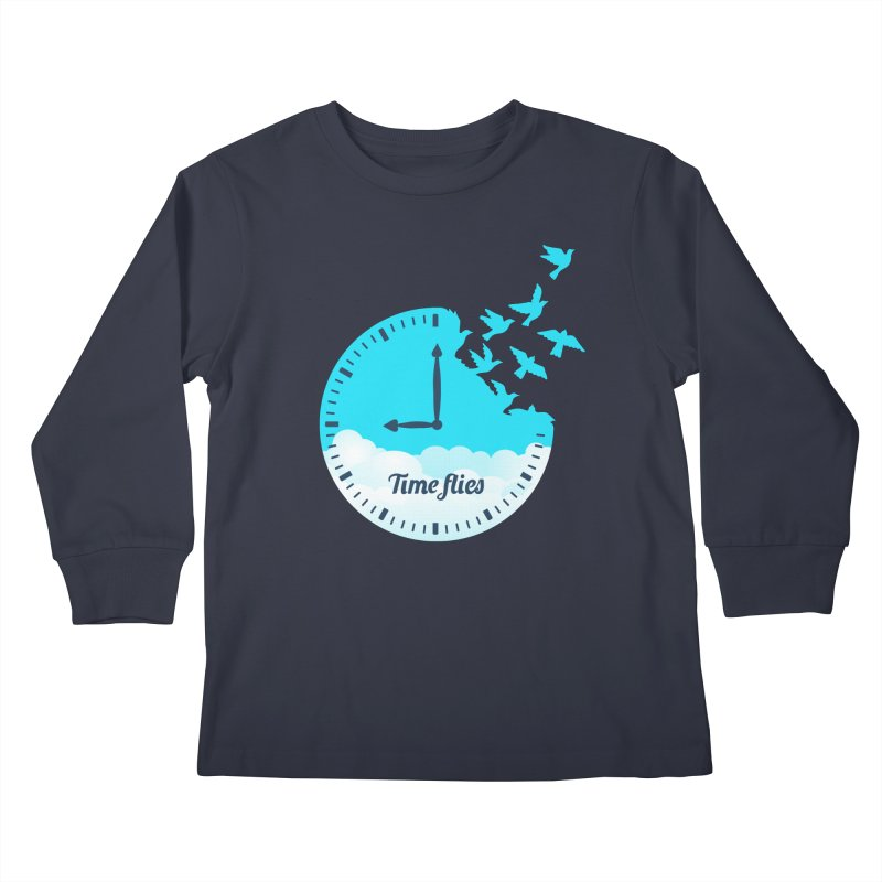 Birds Time Flies Kids Longsleeve T-Shirt by coffeeman's Artist Shop