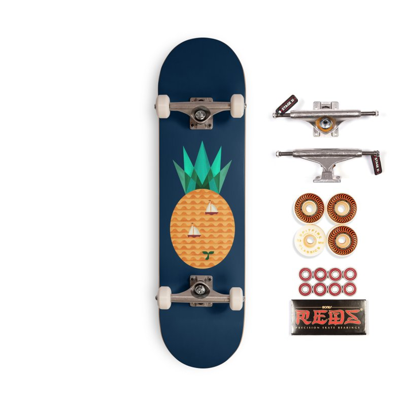 Pineapple Ocean Accessories Skateboard by coffeeman's Artist Shop