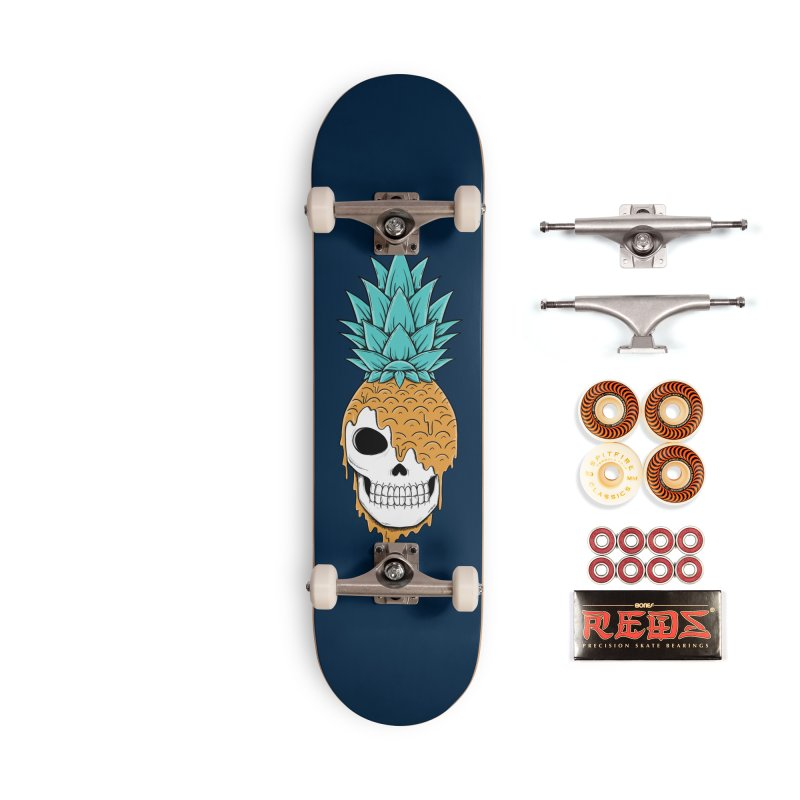 Skull Pineapple Accessories Skateboard by coffeeman's Artist Shop