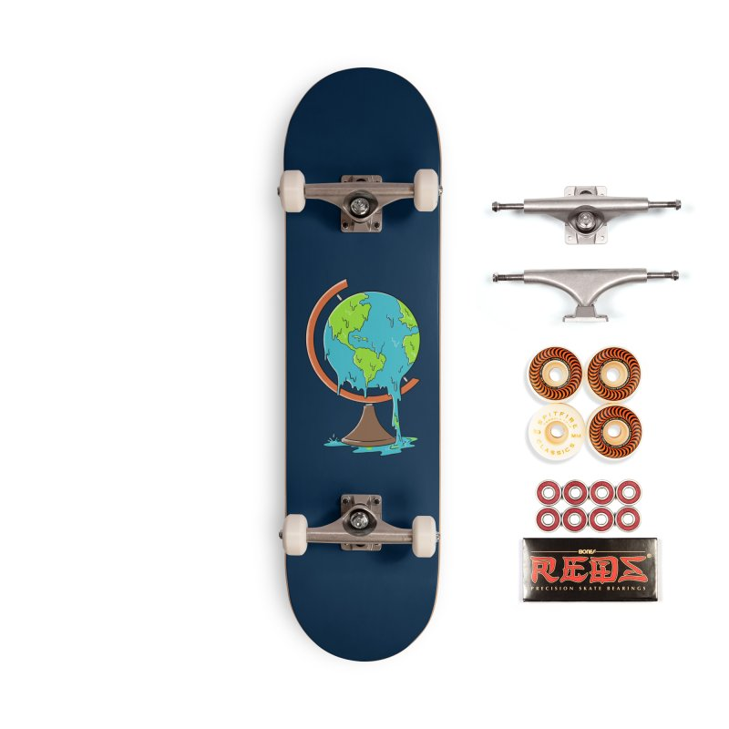 Melted Planet Accessories Skateboard by coffeeman's Artist Shop