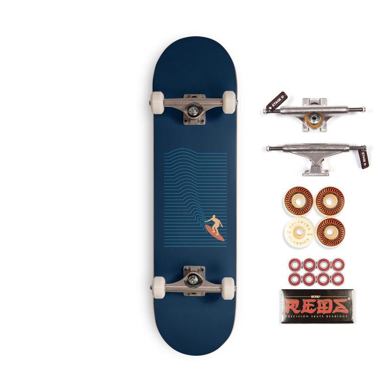 Surf Lines Accessories Skateboard by coffeeman's Artist Shop