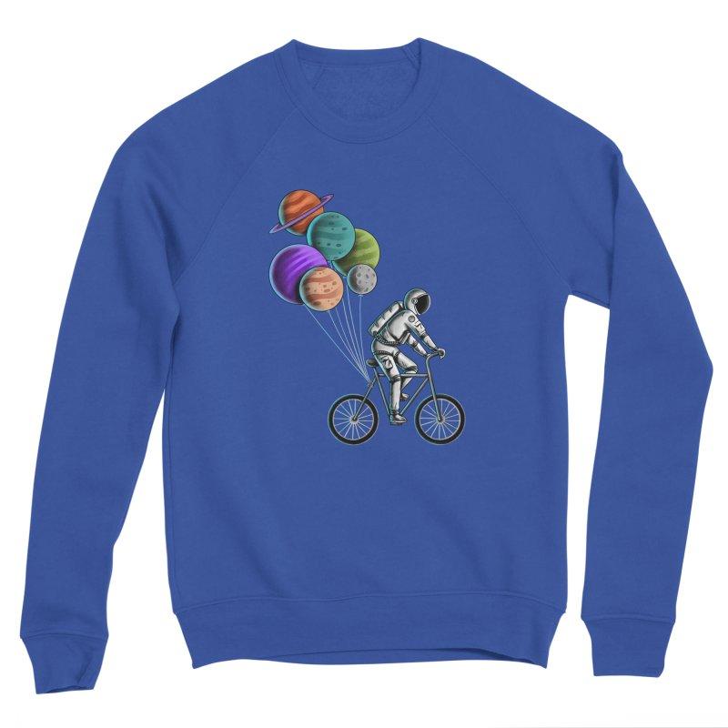 Astronaut Bicycle Men's Sweatshirt by coffeeman's Artist Shop