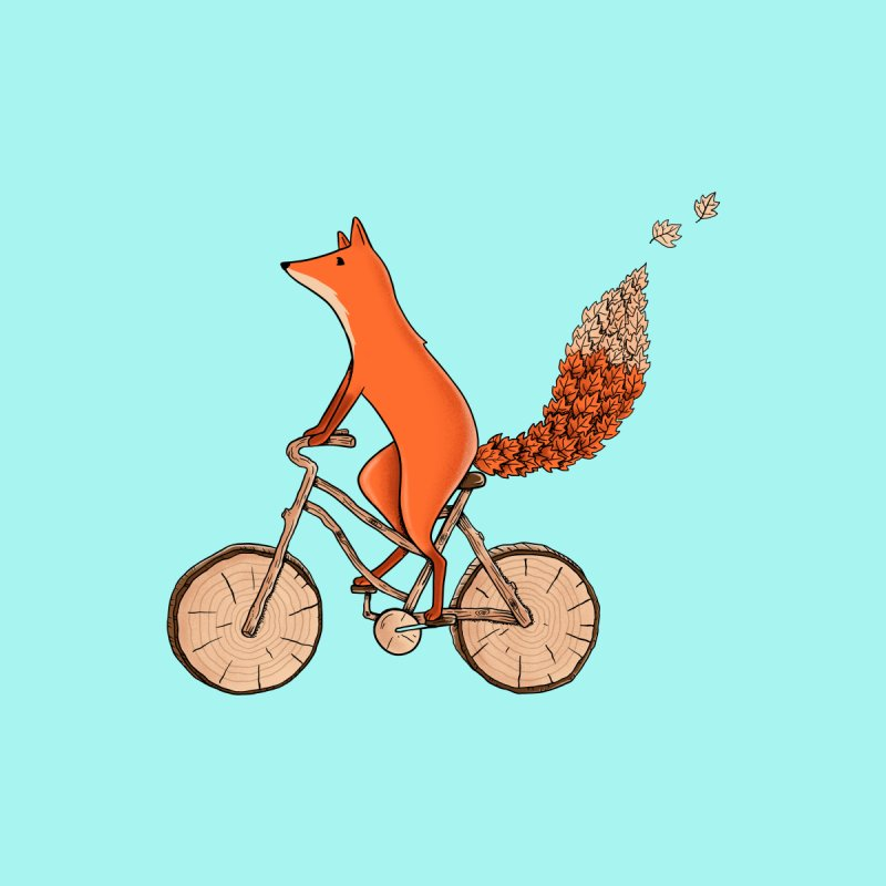 Fox Bicycle Men's Sweatshirt by coffeeman's Artist Shop