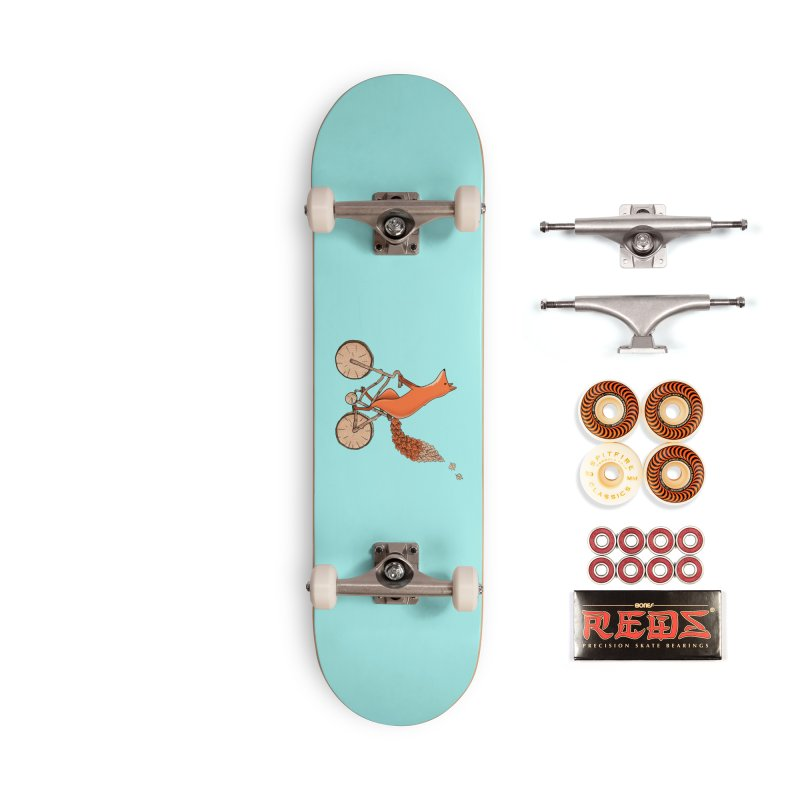 Fox Bicycle Accessories Skateboard by coffeeman's Artist Shop