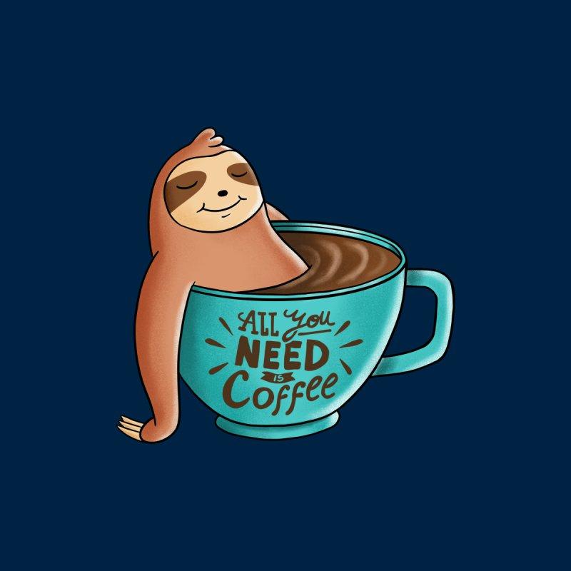 Coffee Sloth Men's Sweatshirt by coffeeman's Artist Shop