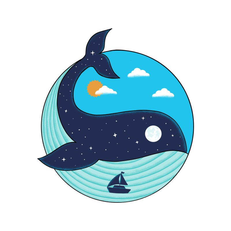 Nature Whale Kids T-Shirt by coffeeman's Artist Shop