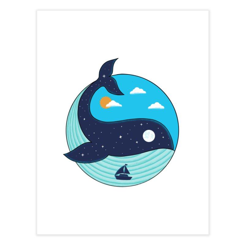 Nature Whale Home Fine Art Print by coffeeman's Artist Shop