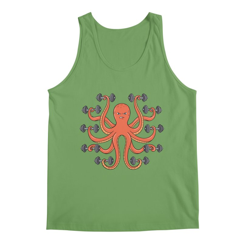 Gym Octopus Men's Tank by coffeeman's Artist Shop