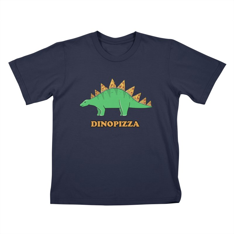 Dinosaur Pizza Kids T-Shirt by coffeeman's Artist Shop
