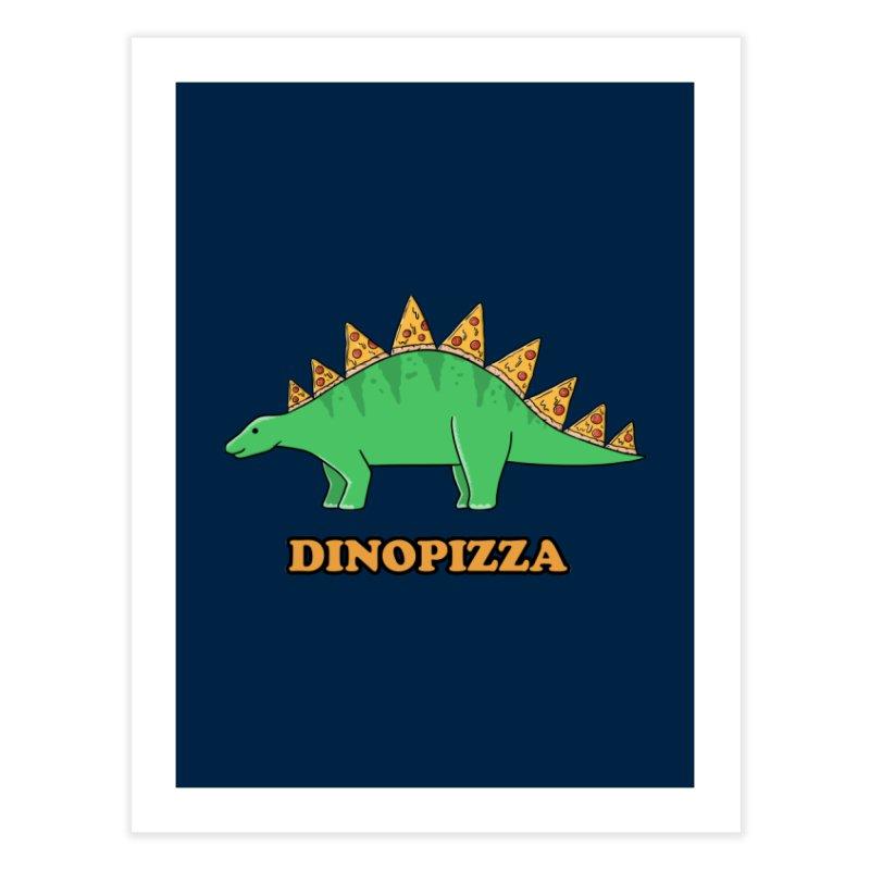 Dinosaur Pizza Home Fine Art Print by coffeeman's Artist Shop
