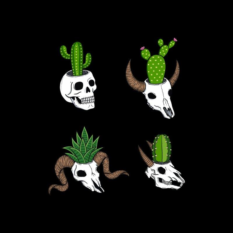 Cactus skulls Men's Pullover Hoody by coffeeman's Artist Shop