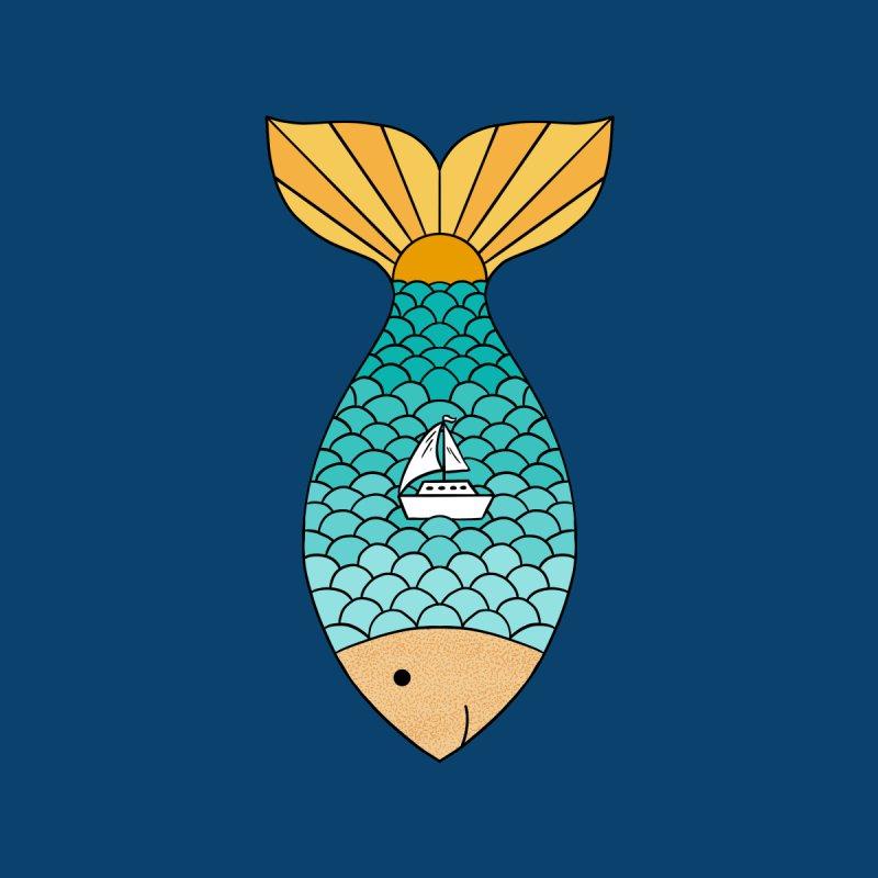 Nature ocean fish Men's Pullover Hoody by coffeeman's Artist Shop