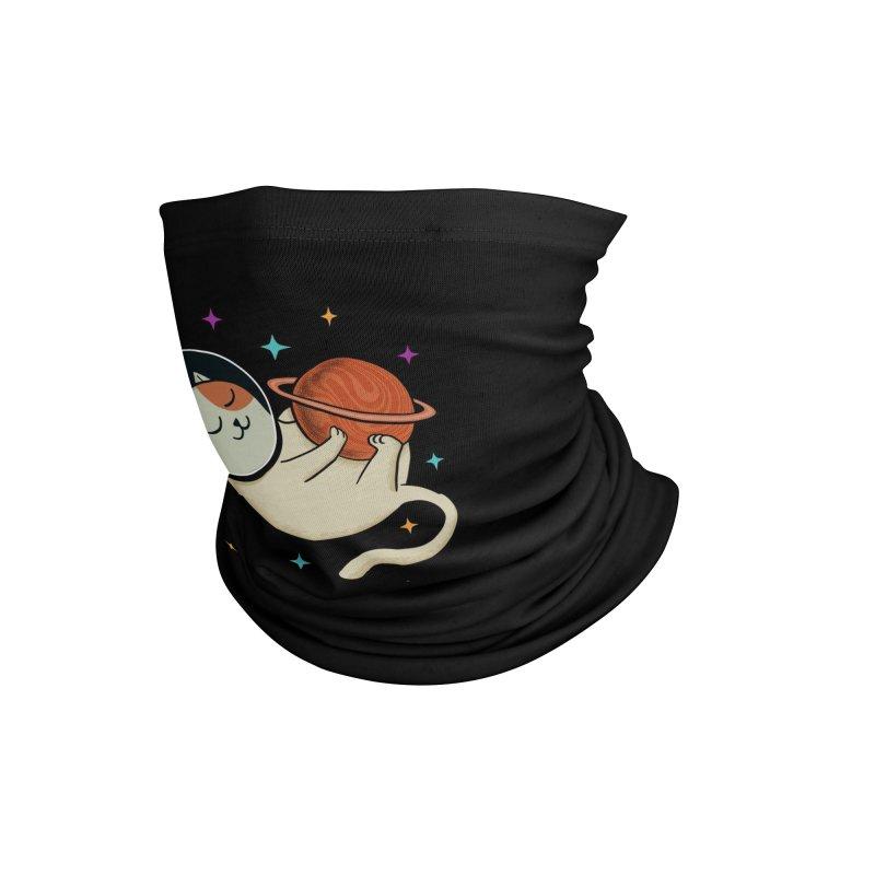 Cat and Planet Accessories Neck Gaiter by coffeeman's Artist Shop