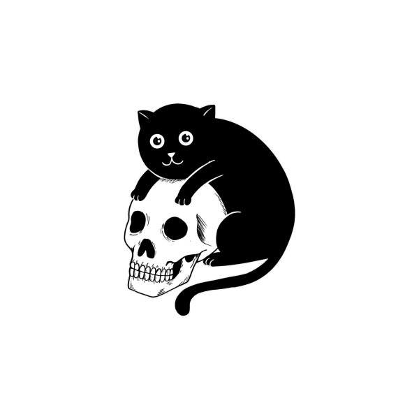 image for Cat and skull
