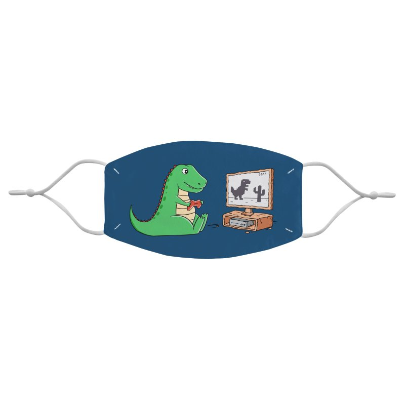 Dinosaur Gaming Accessories Face Mask by coffeeman's Artist Shop