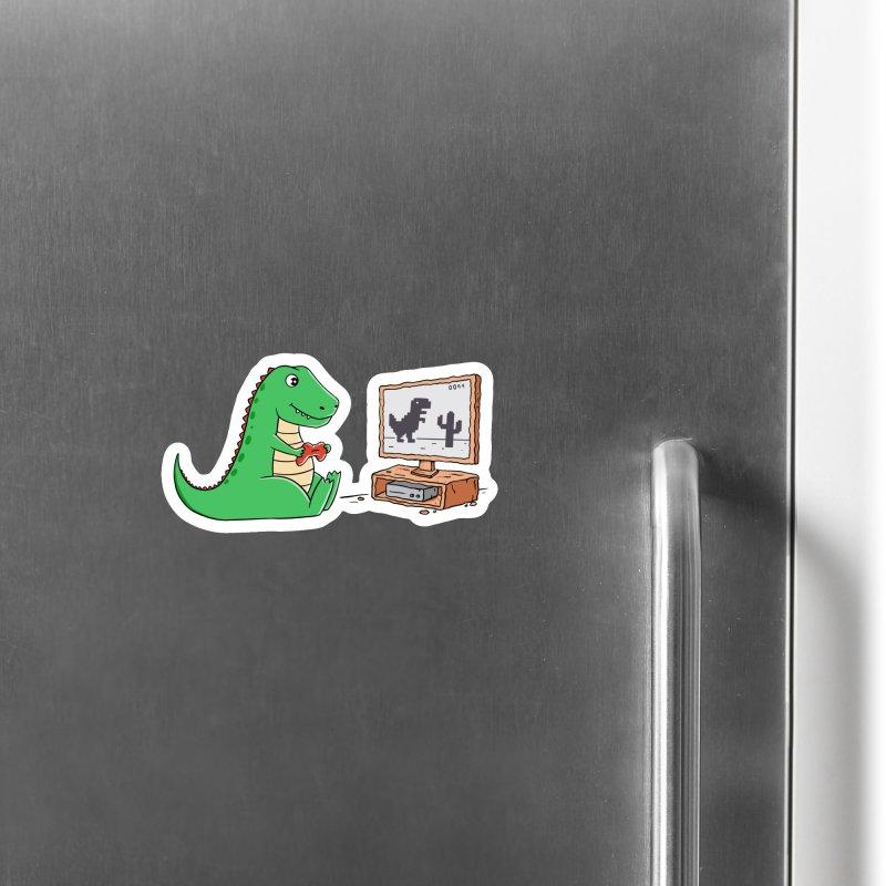 Dinosaur Gaming Accessories Magnet by coffeeman's Artist Shop