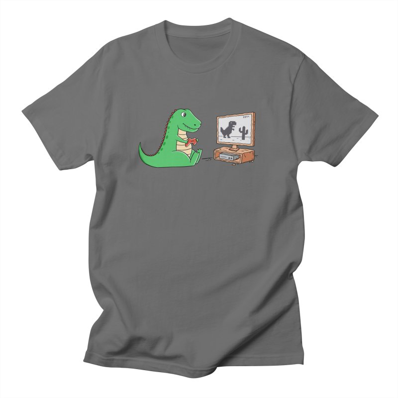 Dinosaur Gaming Men's T-Shirt by coffeeman's Artist Shop
